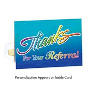 Thanks For Your Referral Greeting Card  - Personalization Available