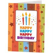 Happy Birthday Candle Design Greeting Card With Personalization