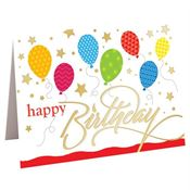 Happy Birthday Balloon Design Greeting Card With Personalization