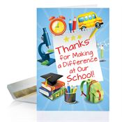 Thanks For Making A Difference At School Thank You Card - Personalization Available