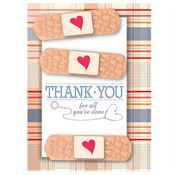 Thank You Band-Aid Design Greeting Card With Personalization