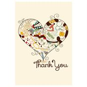 Thank You Medical Heart Design Greeting Card - Personalization Available