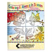 Coloring Is Always In Season Adult Coloring Book - Personalization Available