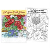 Let Your Faith Bloom: Creative Designs For Women Of God Adult Coloring Book