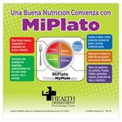 Good Nutrition Starts With MyPlate Flexi-Magnet (Spanish Version) - Personalization Available