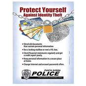 Protect Yourself Against Identity Theft Magnet - Personalization Available