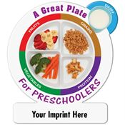 A Great Plate For Preschoolers Magnet - Personalization Available