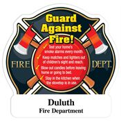 Guard Against Fire! Maltese Cross Shaped Magnet With Tips - Personalization Available
