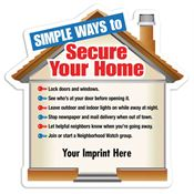 Simple Ways To Secure Your Home Safety-Themed Magnets - Personalization Available