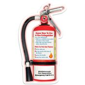 Fire Extinguisher-Shaped Fire Safety Magnet - Personalization Available