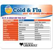 Is It A Cold Or The Flu? Flu Facts Magnet - Personalization Available