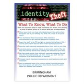 Identity Theft What To Know, What To Do Magnet - Personalization Available