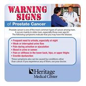 Warning Signs Of Prostate Cancer Magnet - Personalization Available