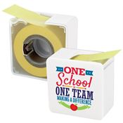 One School One Team Making A Difference Sticky Memo Tape Dispenser