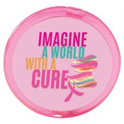 Imagine  A World With A Cure Pink Compact Mirror