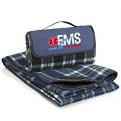 EMS: Your Life, Our Mission Blue Fleece Picnic Blanket