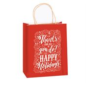 Thanks For All You Do! Happy Holidays Holiday Gift Bag