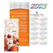 Thanksgiving 2019 Gold-Foil Stamped Holiday Greeting Card Calendar - Personalization Available