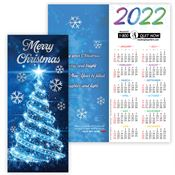Merry Christmas 2020 Gold Foil-Stamped Holiday Greeting Card Calendar - Personalization Available