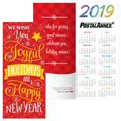 We Wish You Joyful Holidays and A Happy New Year 2019 Holiday Greeting Card Calendar - Personalization Available