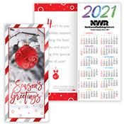 Season's Greetings 2020 Silver Foil-Stamped Holiday Greeting Card Calendar - Personalization Available