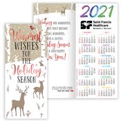 Warmest Wishes For The Holiday Season 2020 Red-Foil-Stamped Holiday Greeting Card Calendar - Personalization Available