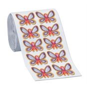 Embroidered Butterfly Roll Breast Cancer Awareness Appliques