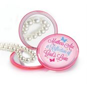 Mothers Are A Reflection Of God's Love Pink Compact Dual Mirror