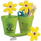 Thanks For Helping Young Minds Grow Flowerpot Desk Caddy & Flower Pen