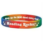 Reading Rocks! Silicone Bracelet (Rainbow)