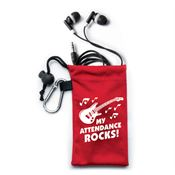 My Attendance Rocks! Earbuds In Pouch