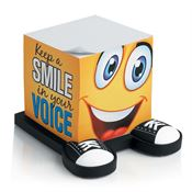 Keep A Smile In Your Voice Note Cube With Sneaker Base