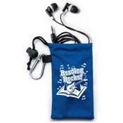 Reading Rocks! Microfiber Pouch With Earbuds