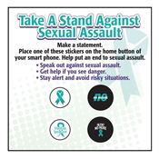 Take A Stand Against Sexual Assault Stickers For Smartphone Home Buttons