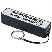 Infection Prevention Be Wise Sanitize! Portable Power Bank