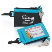 Home Health Aides: Helping Hands Caring Hearts Fabric Wallet With ID Holder