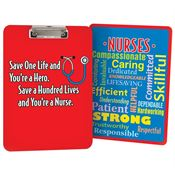 Save One Life And You're A Hero. Save A Hundred Lives And You're A Nurse Clipboard