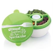 Individually We Are Special, Together We Are Spectacular Round Food Container With Compartments