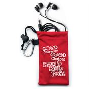 Good Character Good Choices Drug and Bully Free Ear Buds and Pouch