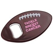Tackle Breast Cancer Football Bottle Opener
