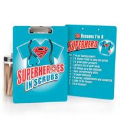 Superheroes In Scrubs Clipboard