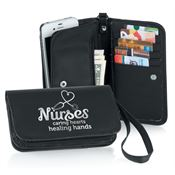Nurses: Caring Hearts Healing Hands Cell Phone Wristlet