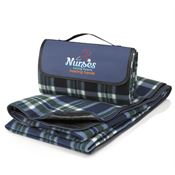 Nurses: Caring Heart, Healing Hands Fleece Picnic Blanket