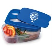 Caring Together, Touching Lives Forever 2-Section Food Container With Utensils