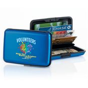 Volunteers Make The World A Brighter Place Identity Guard Aluminum Wallet