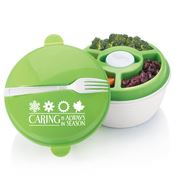 Caring Is Always In Season Round Food Container With Compartments