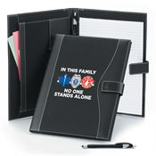 In This Family No One Stands Alone Leatherette Portfolio & Stylus Pen