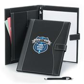 Law Enforcement Leatherette Portfolio & Stylus Pen