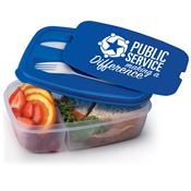 Public Service Making A Difference 2-Section Food Container With Utensils