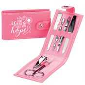 Every Miracle Starts With Hope Leatherette Manicure Kit